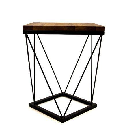 Stolik, stoliczek kawowy, loftowy dąb lity olejowany 40x40