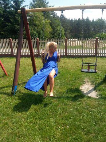 Chabrowa sukienka maxi