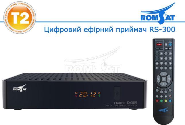 T2 TV тюнер RomSat RS-300 с обучаемым универсальным пультом