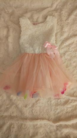 Sukienka dziewczęca 9-12m-cy