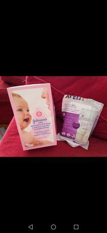 Пакеты для заморозки грудного молока и прокладки для груди