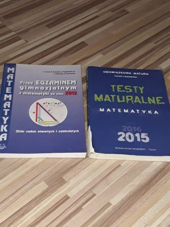 Testy maturalne i przed egzaminem gimnazjalnym z matematyki