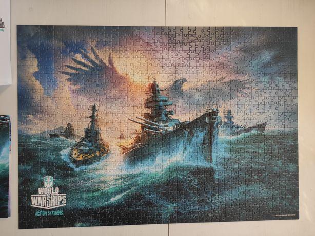 Puzzle World of Warships, 1000 elementów