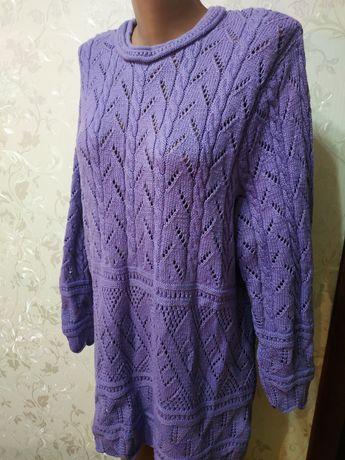 Чудовий светр великого розміру свитер ручної роботи