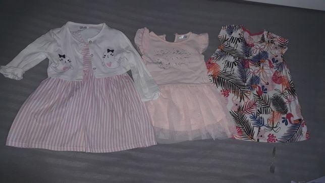 Komplet sukienek letnich dziewczecych