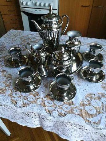 сервиз кофейный -15 предметов - никилированное покрытие...