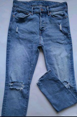 Spodnie z dziurami ( sprany jeans ) - H&M