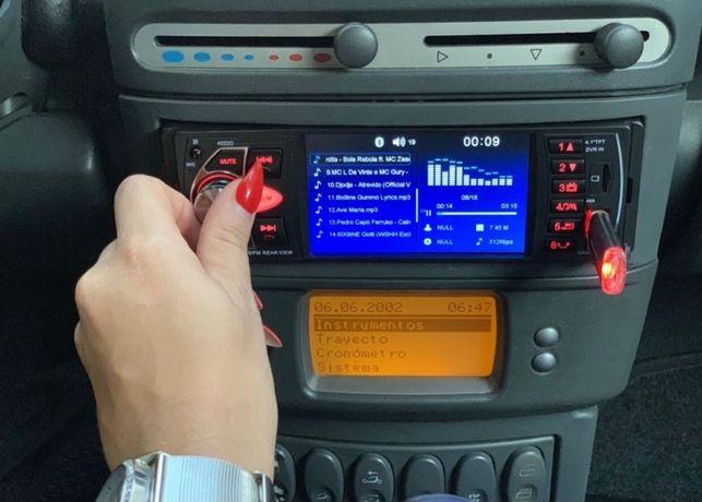 Auto-Rádio Mp5 1Din Universal Full-HD/60x4w NOVO