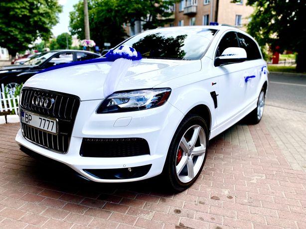 Прокат/Аренда авто на свадьбу Audi Q7 с водителем,трансфер аэропорт