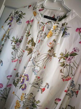 Koszula bluzka oversize śliczna kwiaty