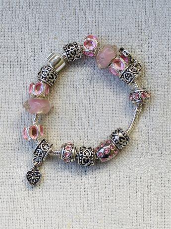 """Браслет в стиле """"Pandora"""" - розовый"""