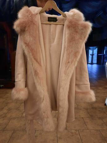 Płaszcz z futra sztucznego - Only fashion  , damski. Rozmiar  XL.