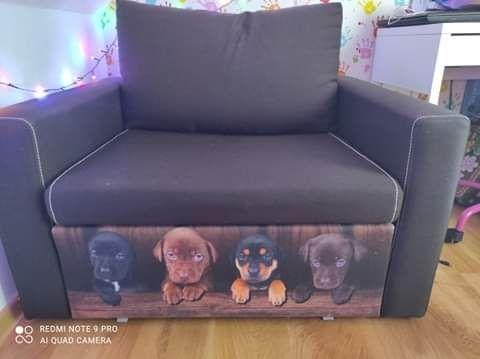 Fotel rozsuwany,sofa- uszkodzone