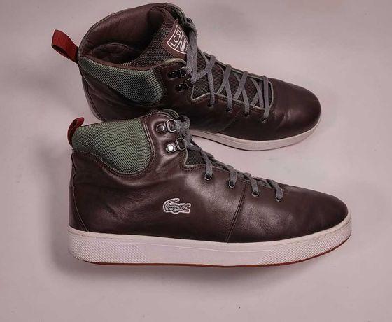 Ботинки Lacoste кожаные (р. 45-46) кроссовки высокие / Ralph Lauren