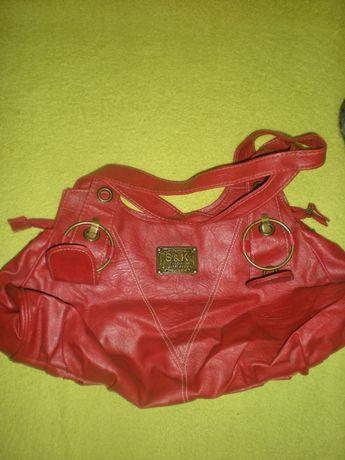 Miękka czerwona torba na ramię, S&K
