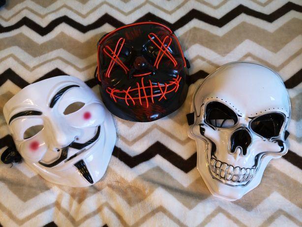 Maski led na halloween / imprezę / klubu