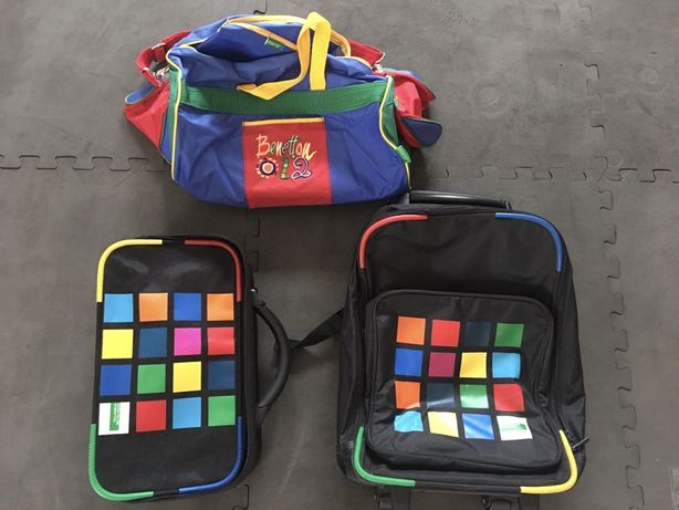 3 malas/mochilas de viagem criança BENETTON