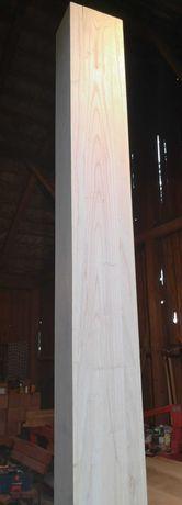 Słup, wspornik drewniany jesionowy, klejonka