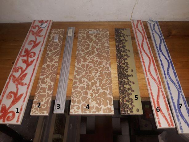 Płytki ceramiczne ozdobne dekoracyjne wstawki nowe