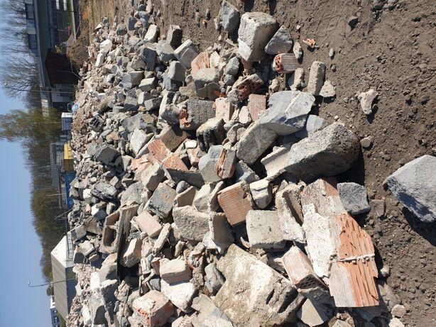 Gruz ceglany, pustak, beton z rozbiórki wyburzenia oddam Kraków