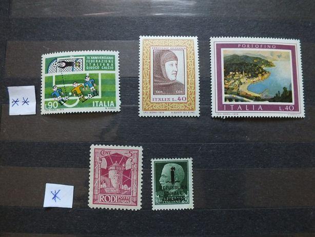 5szt. znaczki Mi1405/1973r.,Mi1455,Mi1458/1974r.,,Włochy stan** czyste