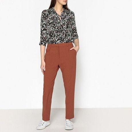 Новые кирпичные брюки samsoe оригинал штаны классические зауженные