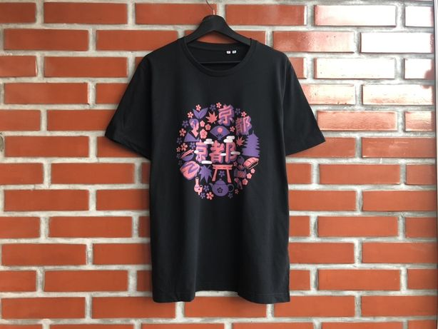 Uniqlo мужская чёрная футболка размер XL уникло б у