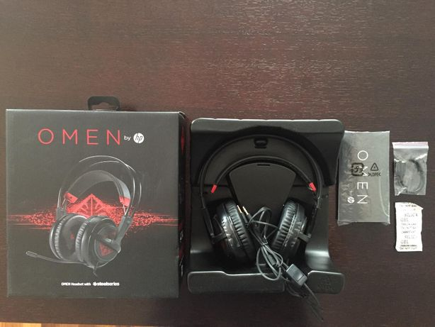 Słuchawki HP Omen SteelSeries X7Z95AA Czarne