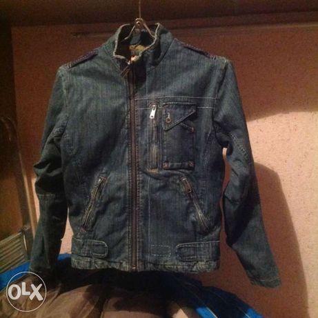 куртка-ветровка джинсовая подростковая