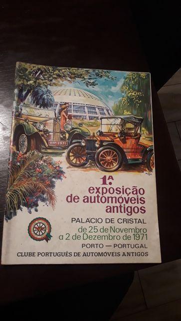 Revista da 1 exposição automóvel antigo.