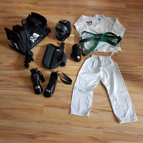 Taekwondo - zestaw ochraniaczy + dobok