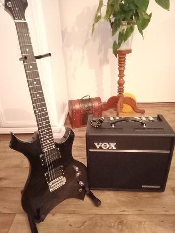 Piec/Wzmacniacz VOX 40+ . Gitara elektryczna Vision Extreme. Stojak