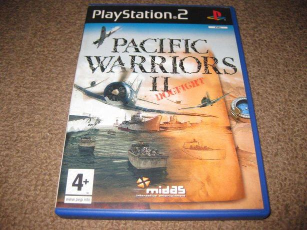 """Jogo """"Pacific Warrior II: Dogfight!"""" para PS2/Completo!"""