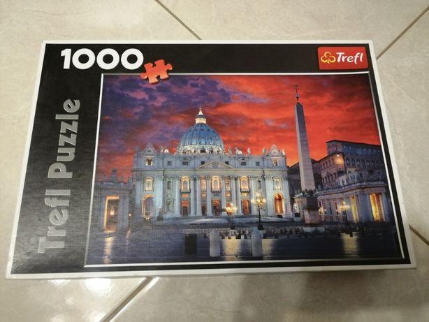 """Puzzle Trefl 1000 """"Bazylika Świętego Piotra, Rzym"""""""