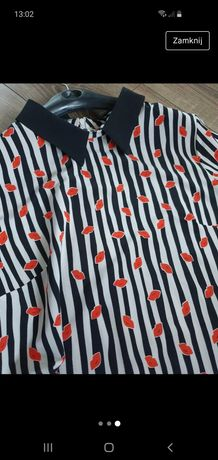 Bluzka koszulowa lejąca Orsay 36 usta paski