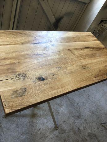 Blat Dębowy 110x60x4 Drewniany Loft Stolik Kawowy
