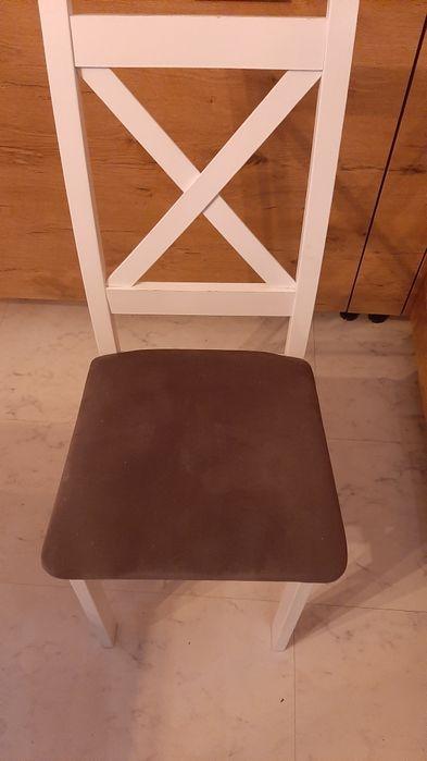 Krzesło białe prowansalskie krzyżak Gniezno - image 1