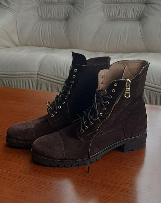 Ботинки Деми, натуральная замша, кожа, 39р. Фонтанка - изображение 1