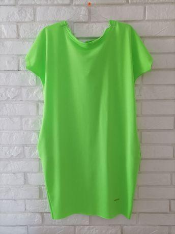 Sukienka tuba neonowa rozmiar 42