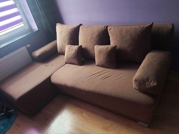 Narożnik kanapa narożna z funkcją spania