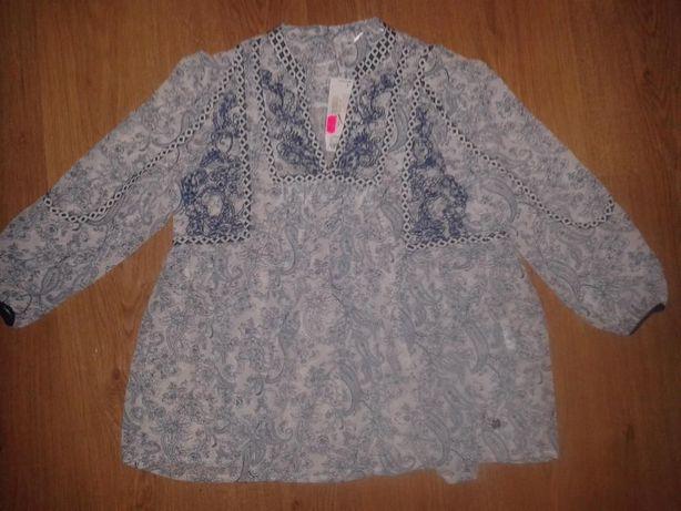 блузка в школу шифоновая OGGI Оджи подростку р. 36 вышивка рубашка