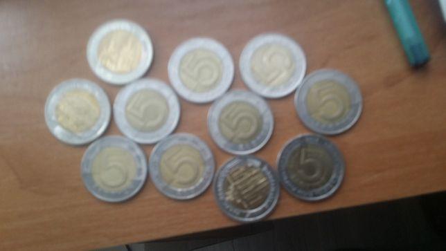 monety 5 zł obiegowe i okoliczoścowe