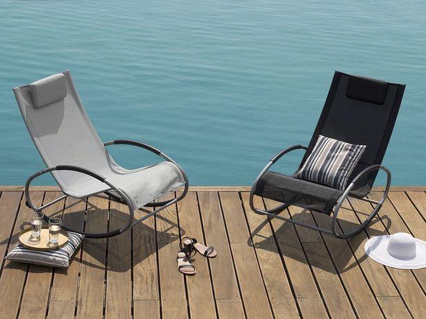 Cadeira de jardim de baloiço preta CAMPO - Beliani
