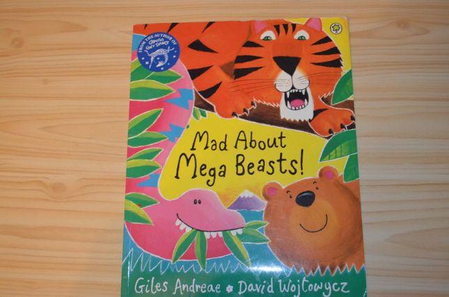 Mad about mega beasts , детская книга на английском языке