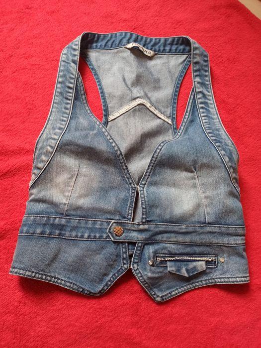 Kamizelka jeansowa, super krój Gliwice - image 1