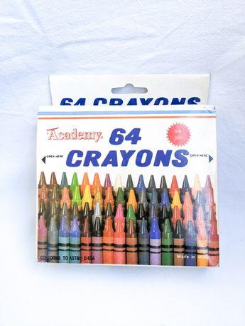 Восковые карандаши Crayons 64 шт набор