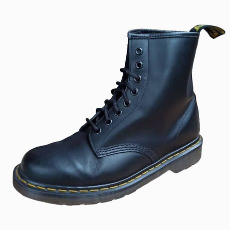dr. martens 1460 black smooth leather ankle boots