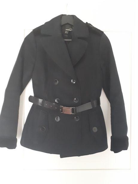 Marynarka kurteczka płaszczyk pasek Mango suit roz.S 36 czarna+aksamit