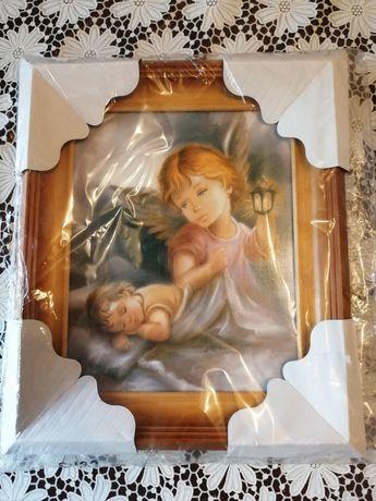 Obraz/ Pamiątka komunijna, roczek, chrzest/Nowy