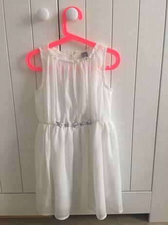 Sukienka biała wesele uroczystość 122 dla dziewczynki